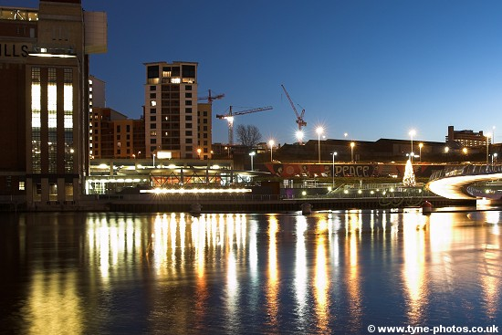View across the River Tyne to Gateshead and the Baltic Centre