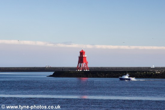 View of Herd Groyne from the North Shields on a fine calm day.