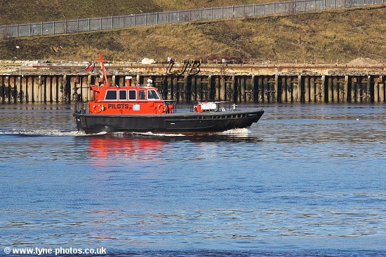 Tyne Pilot Boat Norman Forster passing North Shields.