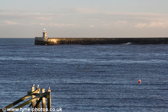 South Shields Pier seen from Tynemouth Pier.