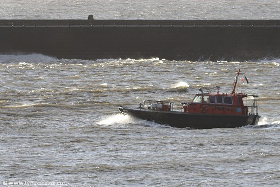 Tyne Pilot Boat Norman Forster on a stormy morning.