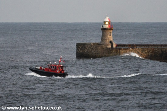 Tyne Pilot Boat Norman Forster on a stormy afternoon.